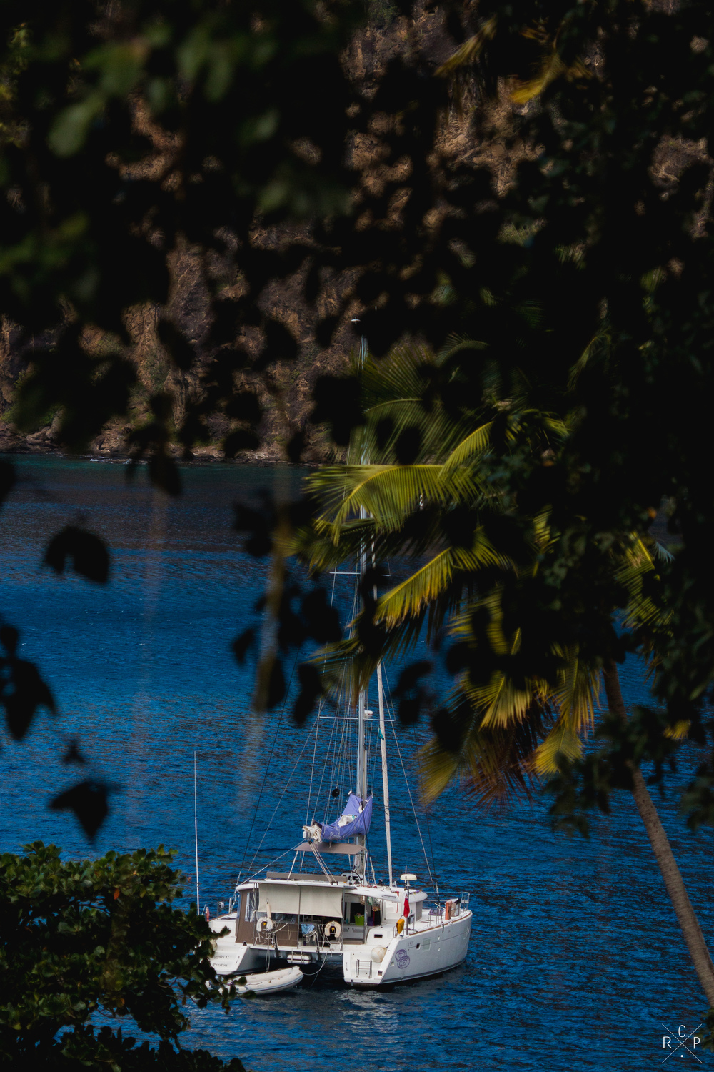 Ripples II Through Trees 1 - Pitons Bay, St. Lucia 29/01/2016