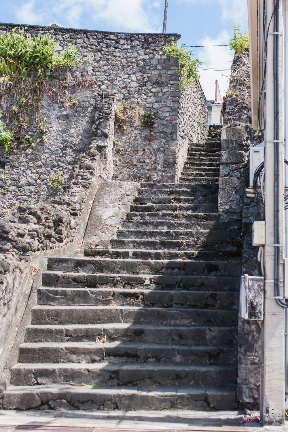Stairs - Saint Pierre, Martinique 06/03/2016