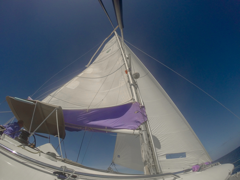 Main Sail & Jib - Caribbean Sea 07/03/2016