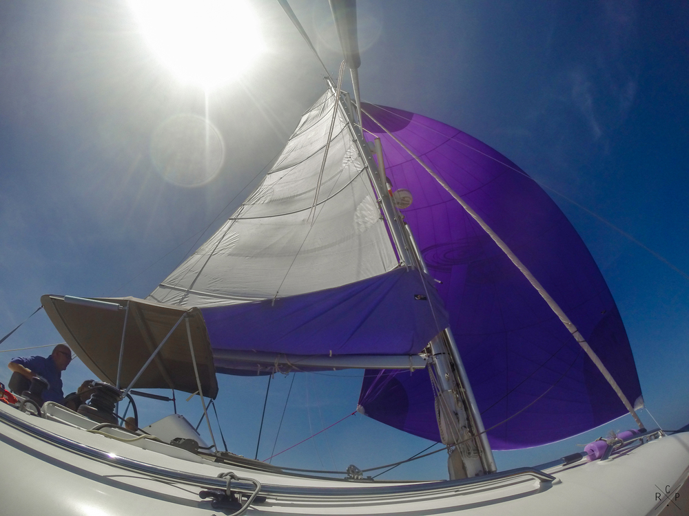 Main Sail & Cruising Chute 2 - Caribbean Sea 07/03/2016
