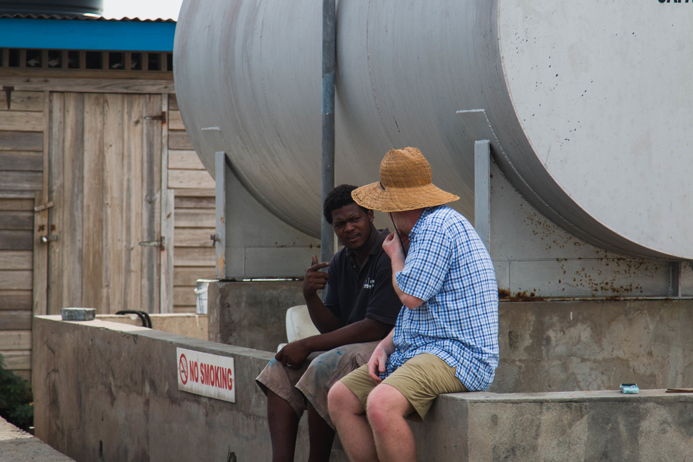Deep In Conversation - St. Davids, Grenada 09/01/2016