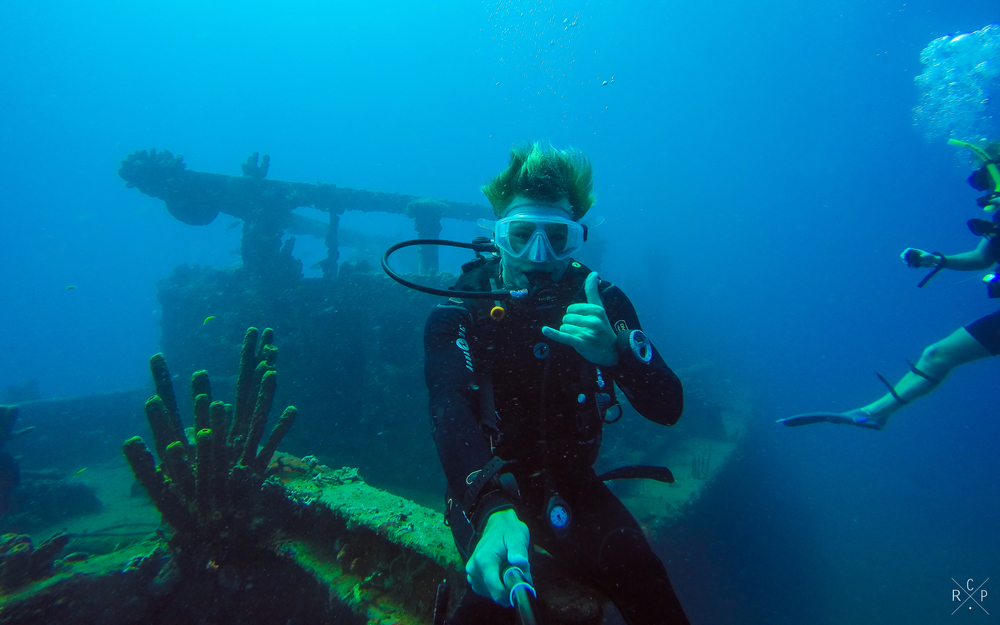 Shipwreck Selfie - Jacque Cousteau Reserve, Guadeloupe 20/03/16