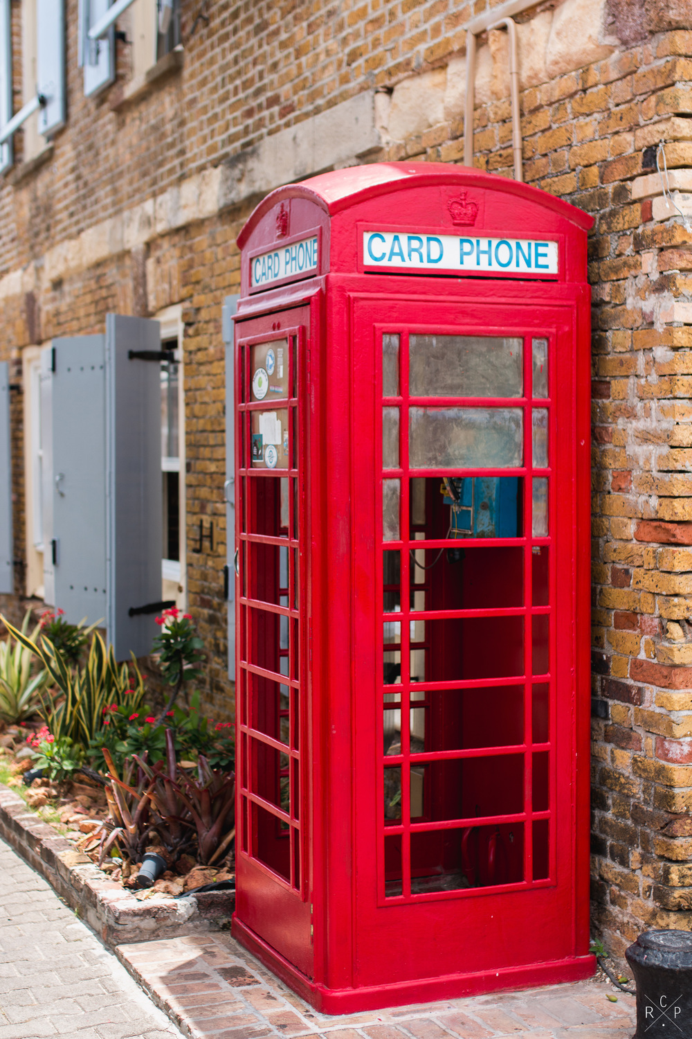Red Phone Box - Nelson's Dockyard, English Harbour,Antigua 01/04/2016