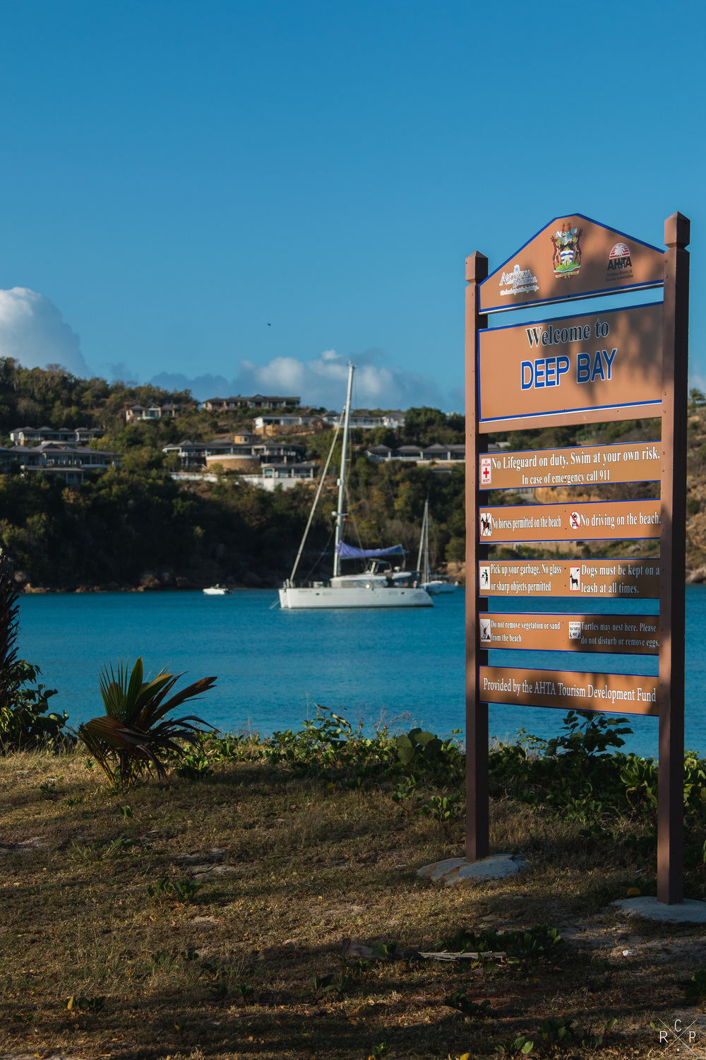 Deep Bay Sign - Deep Bay, Antigua 03/04/2016