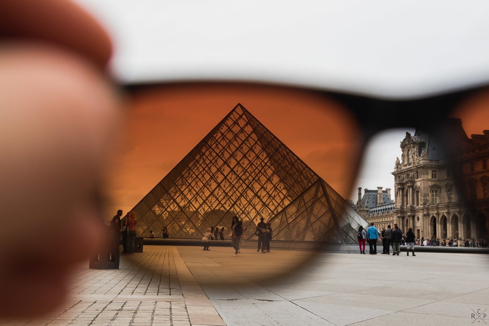 Louvre Through My Tens - Paris, France, 11/09/2016