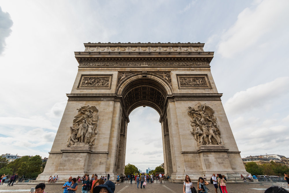 Arc de Triomphe - Paris, France, 11/09/2016