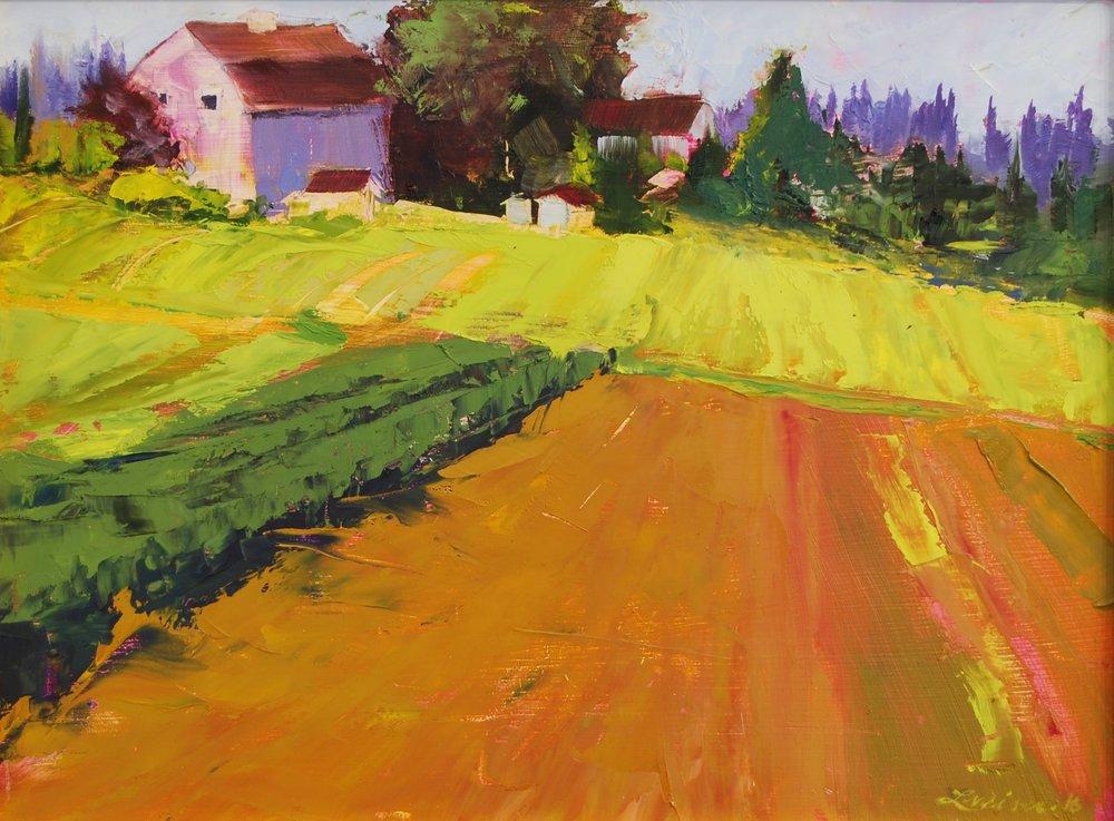 """Hazelia Fields 9""""x12"""" Oil"""