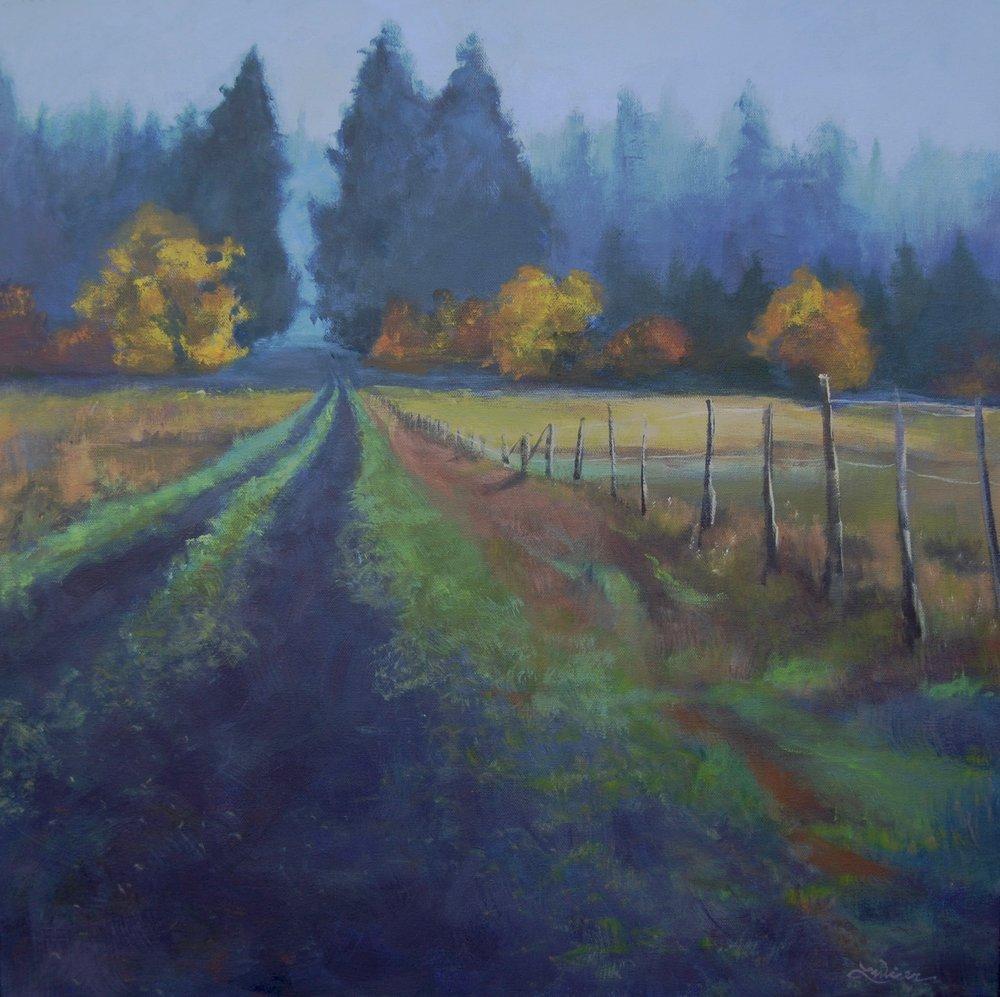 "Fogged In 24""x24"" Acrylic on Canvas"