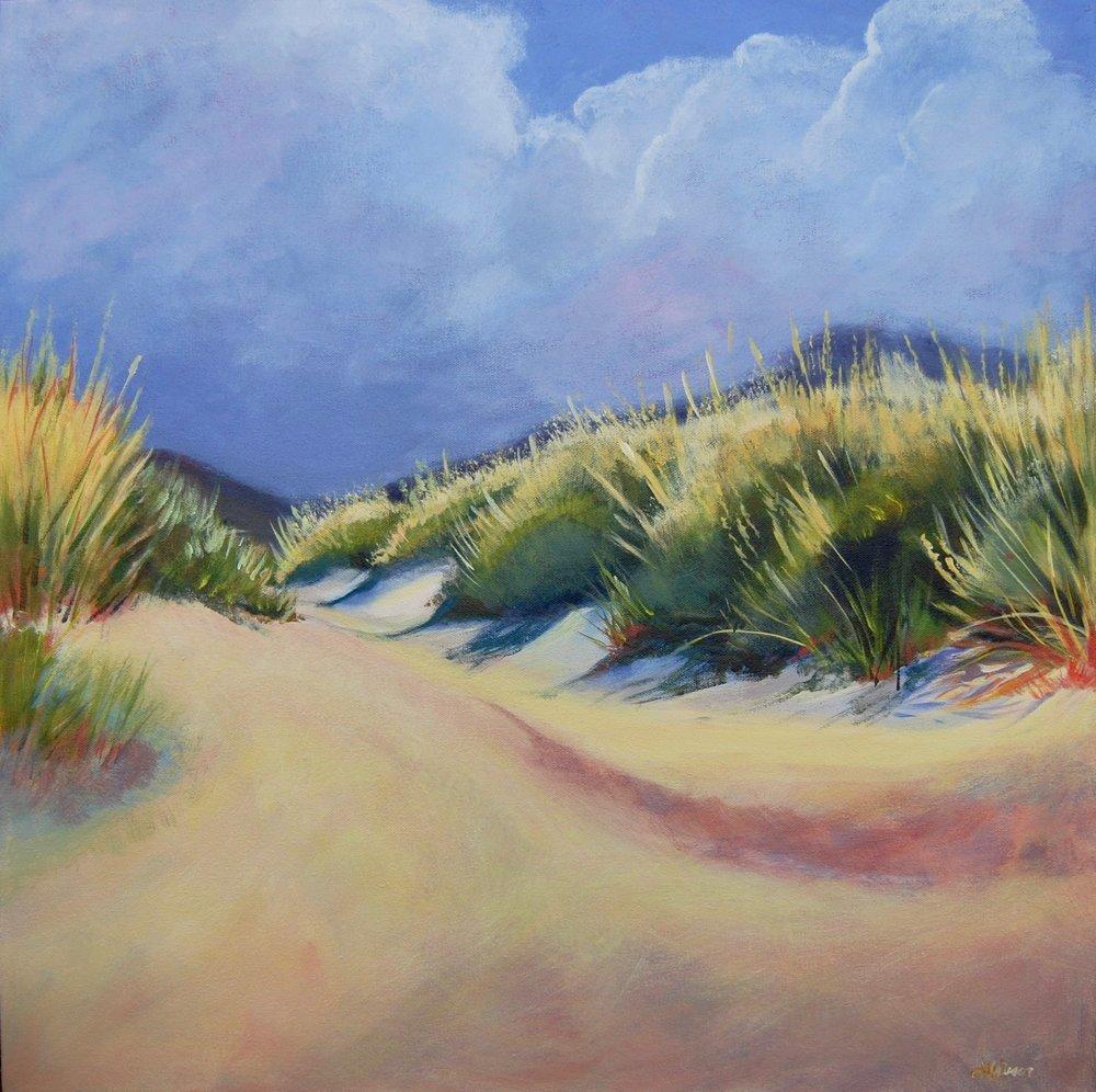 "Dune Grass  24""x24"" Acrylic on Canvas"