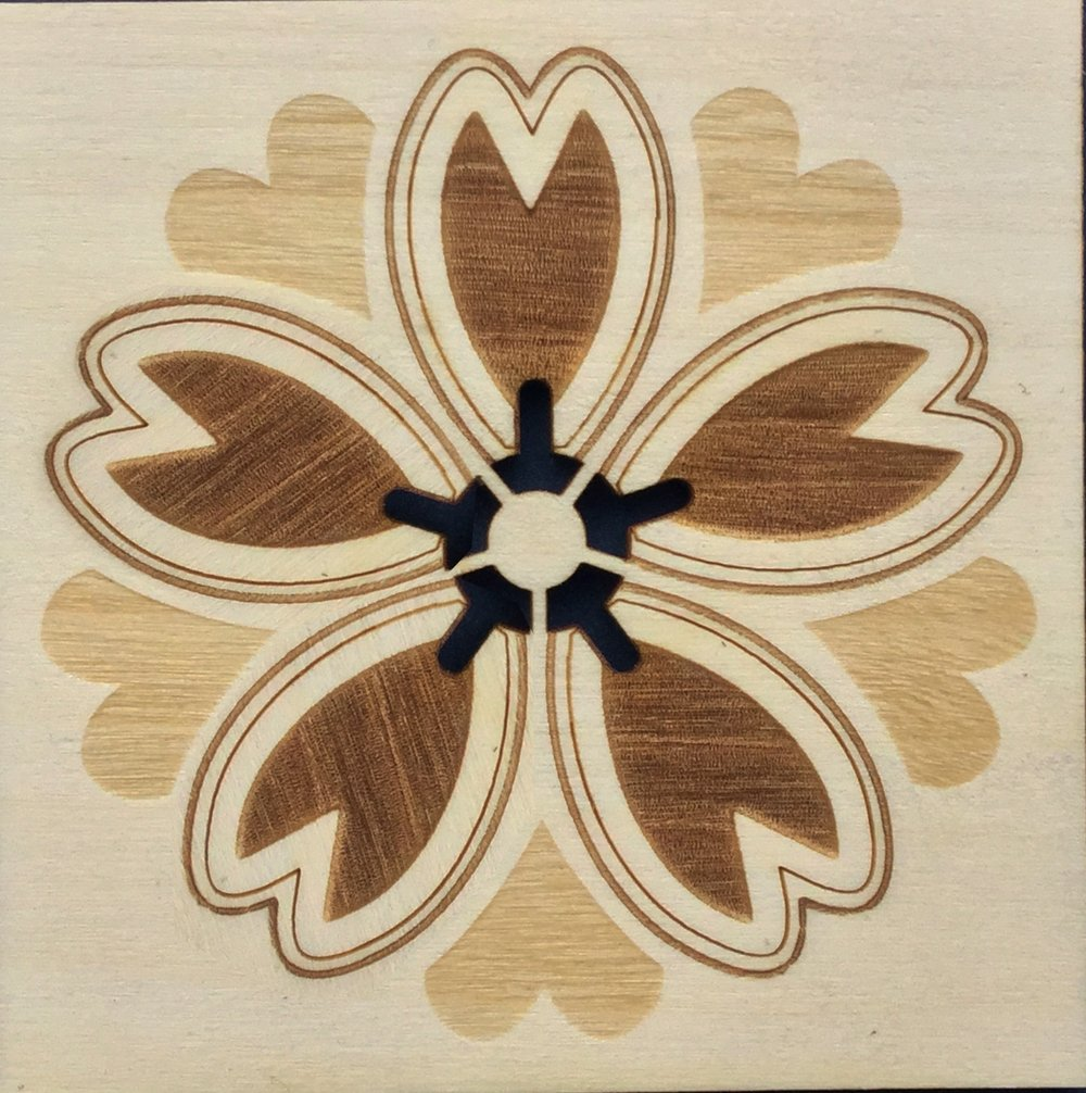 laser cut & engraved wood