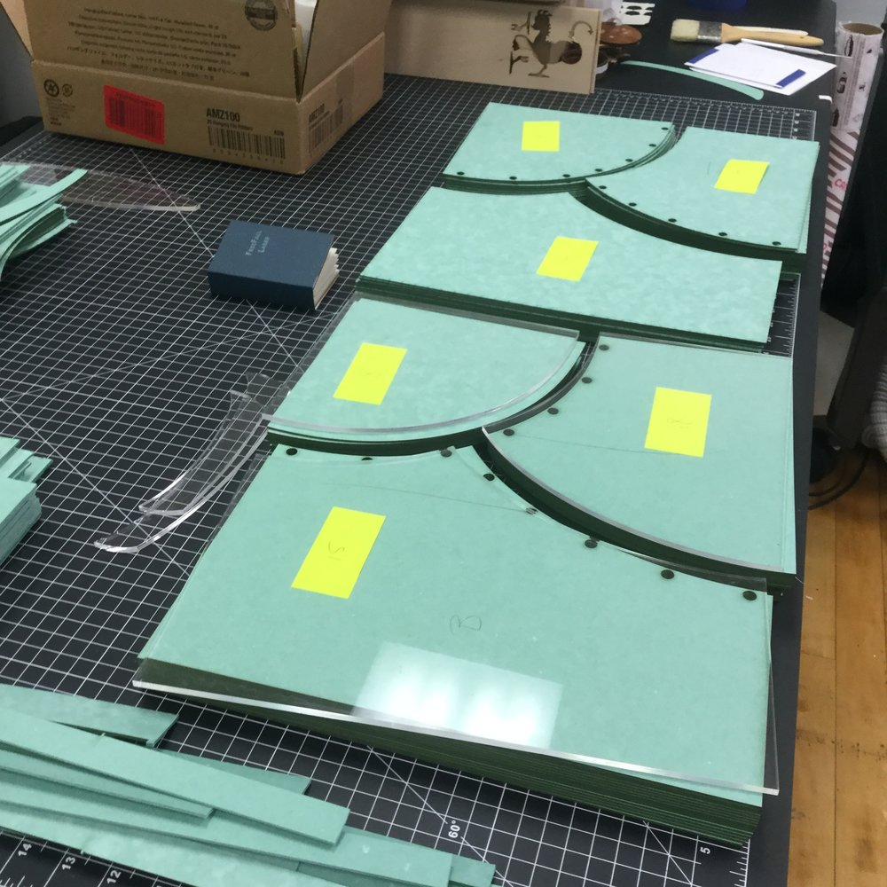 Peter Gerety, Praxis Bindery    Laser-cut binders board for artist book   Relativity  published by 21st Editions