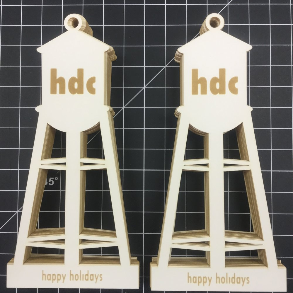 Hixon Design   Laser-cut & engraved ornaments in paper