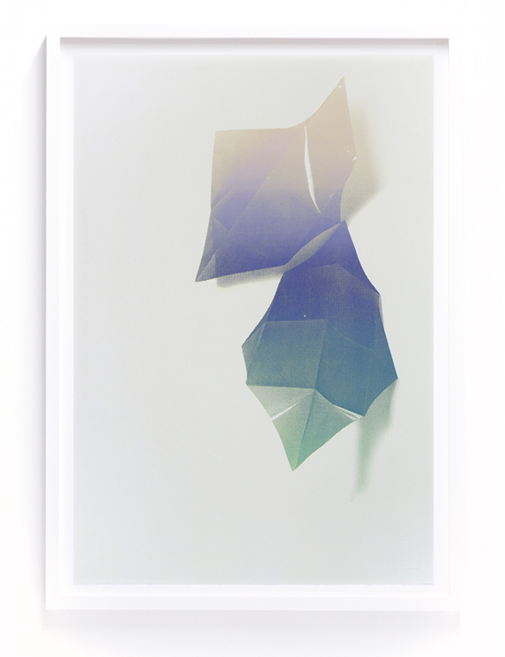 "Elizabeth Corkery - Two Diamond Gradient, silkscreen, 15"" x 22"""