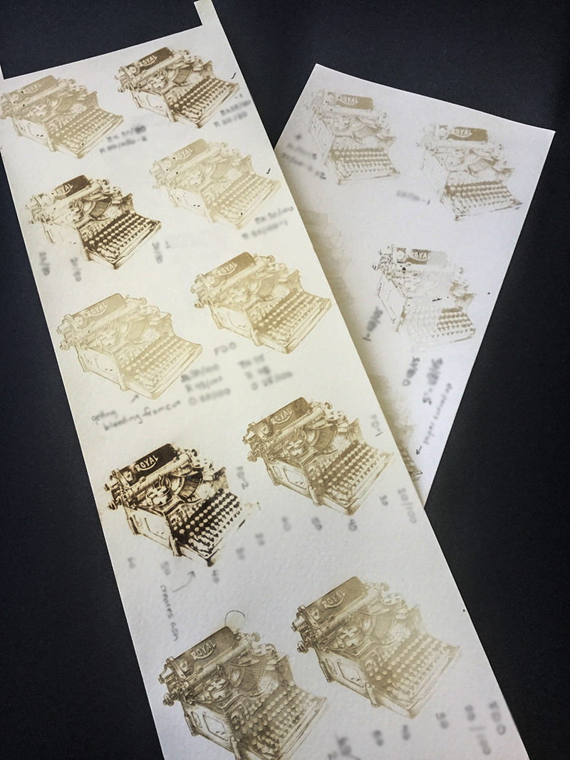 laser engraved tests