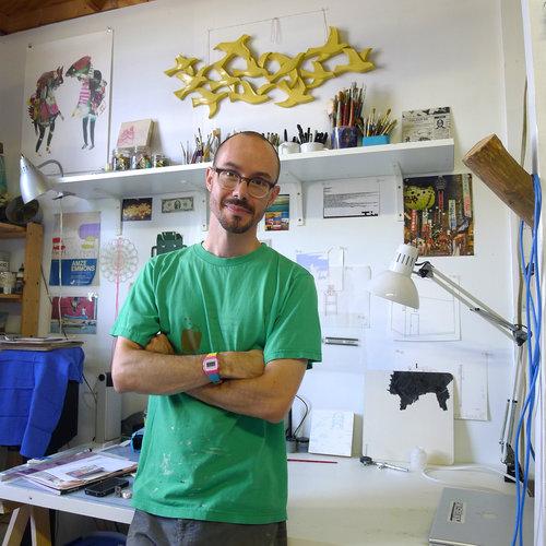 Amze Emmons in his Philadelphia studio