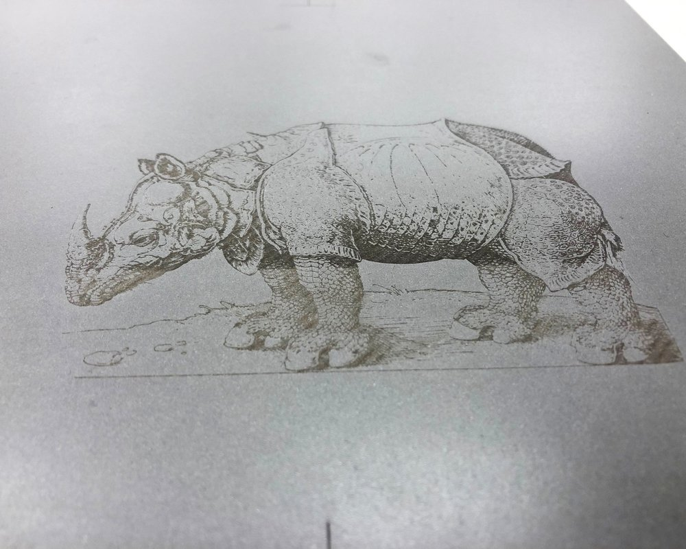 Laser engraved waterless litho plate