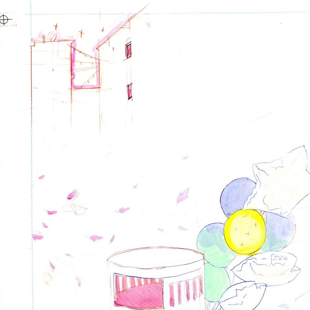 Original sketch (detail)