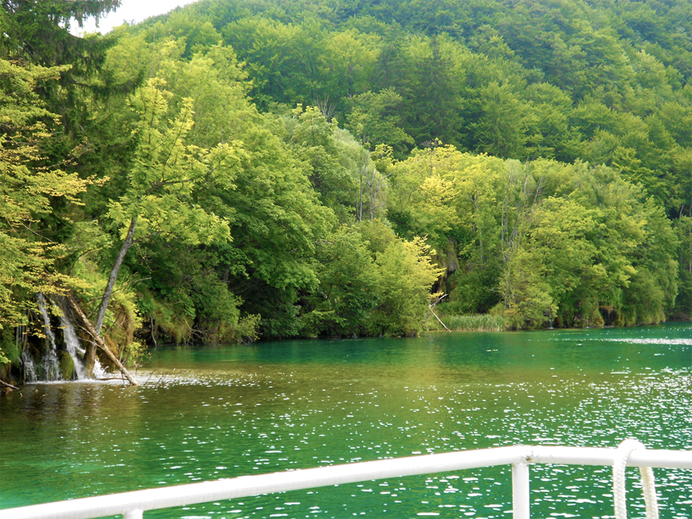 Plitvice Lakes National Parks Croatia boatview from lake.png