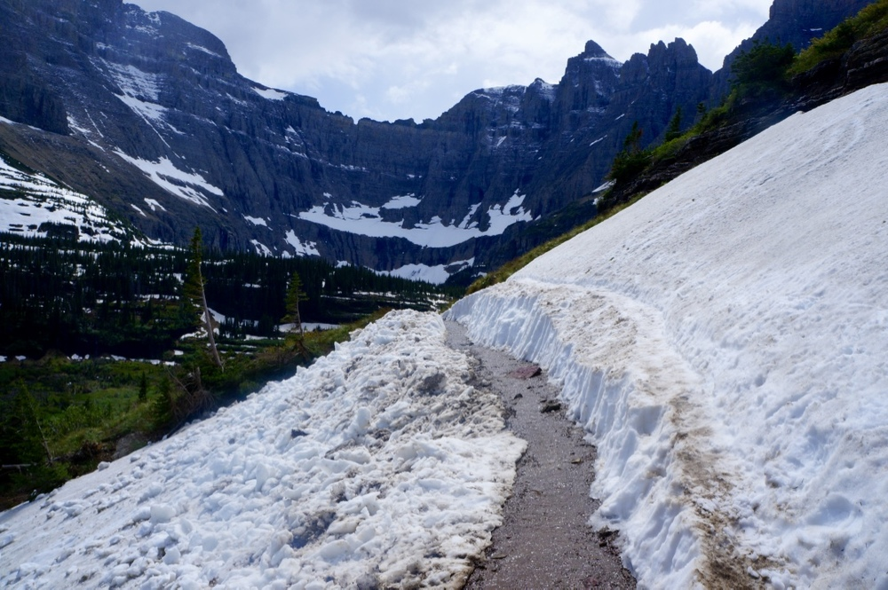 glacier national park iceberg lake hiking trail snow.jpg