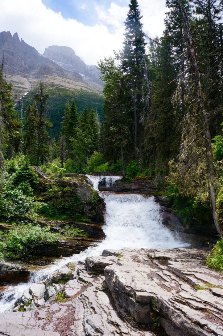 glacier national park st marys lake hiking trail waterfall.jpg