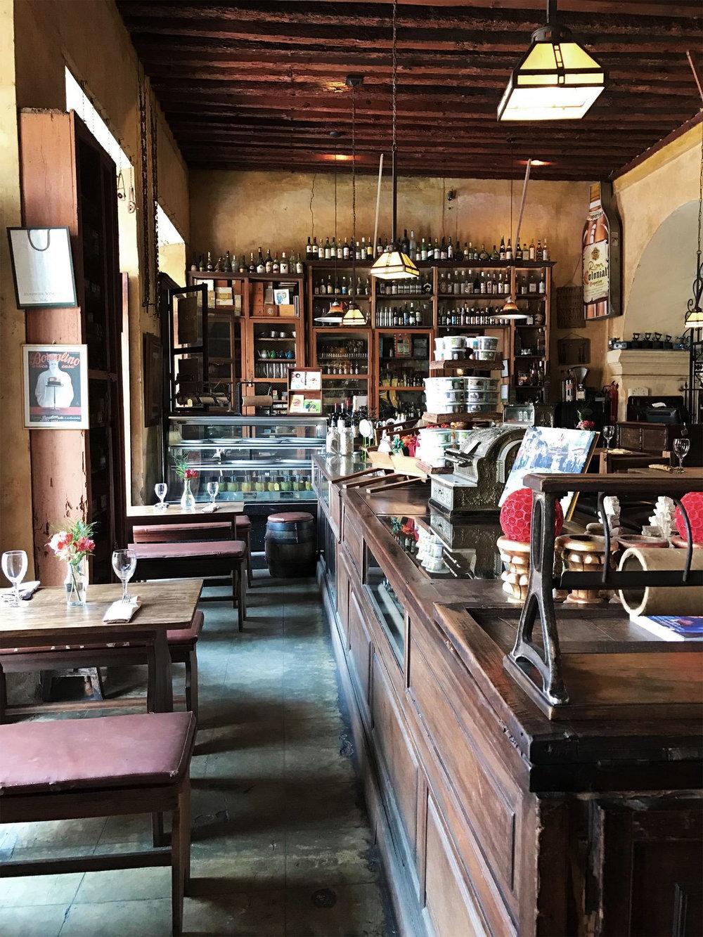 historic restaurant design in Antigua Guatemala