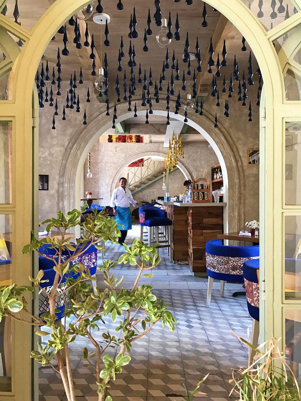 modern trendy restaurant design in Antigua Guatemala