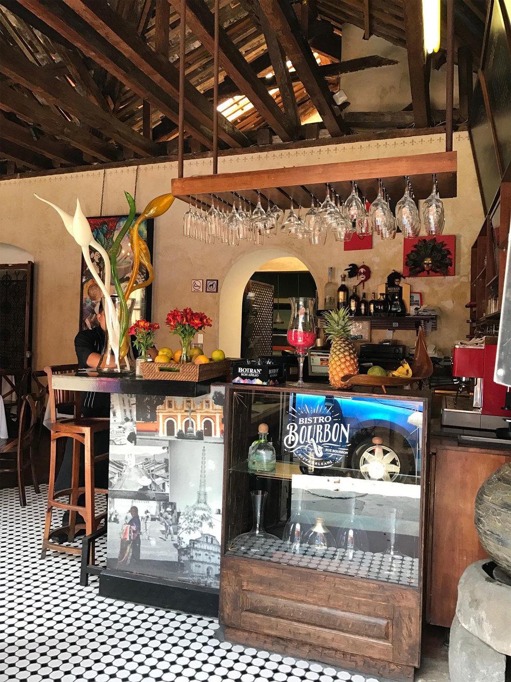 restaurant design in Antigua Guatemala