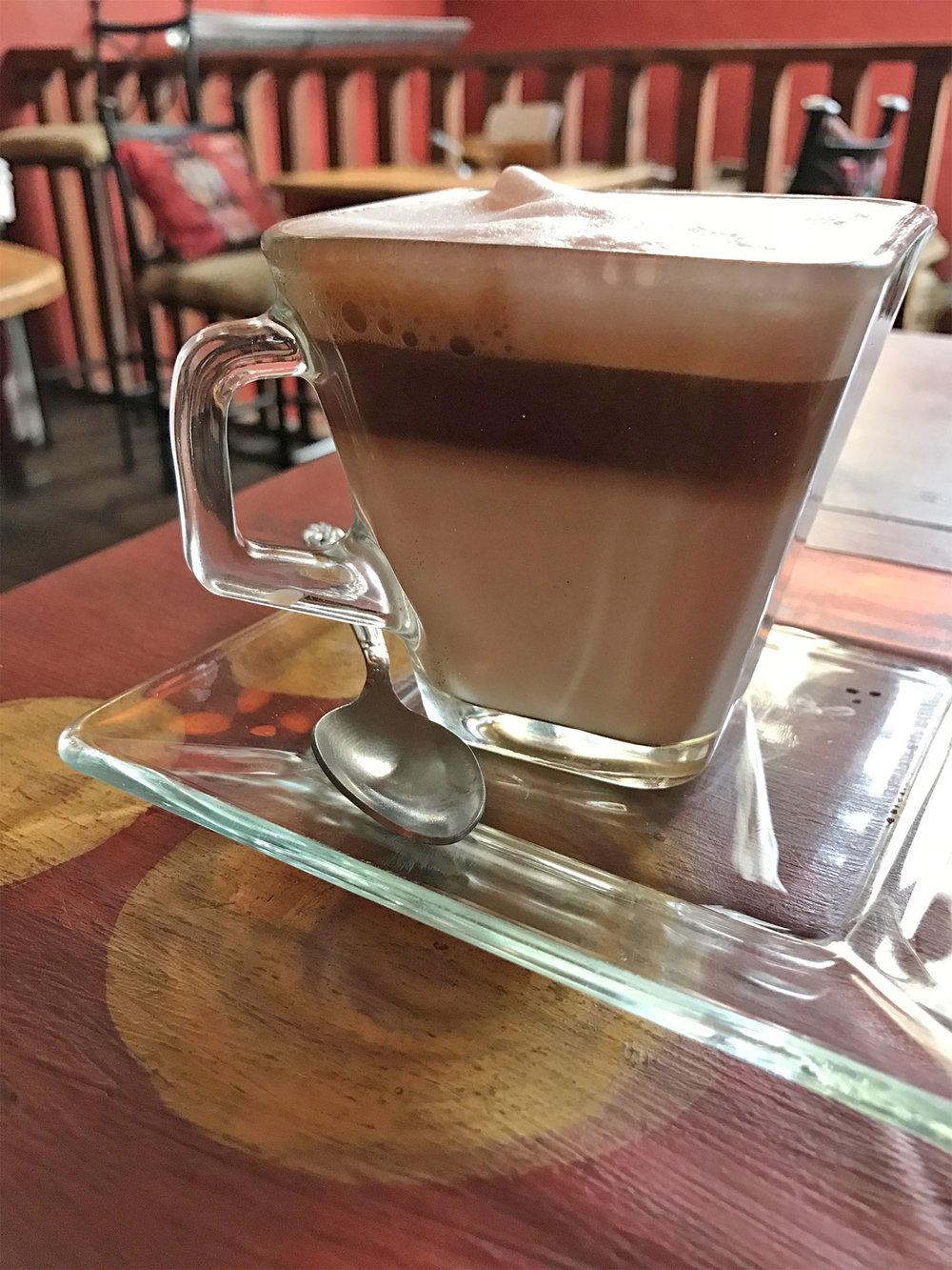 Cafe Boheme latte Antigua Guatemala