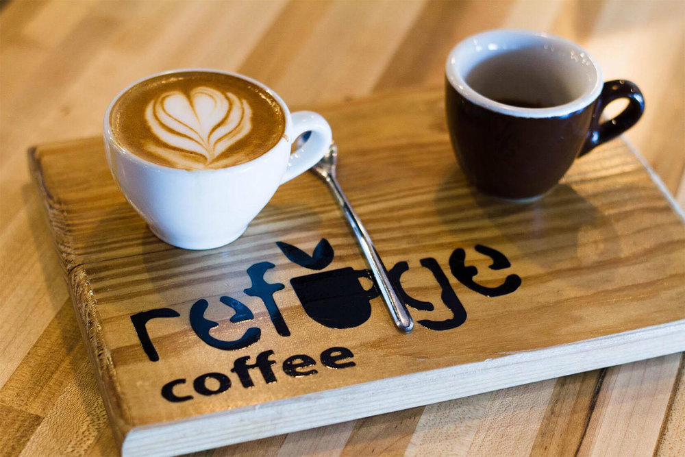 Refuge coffee in Antigua Guatemala