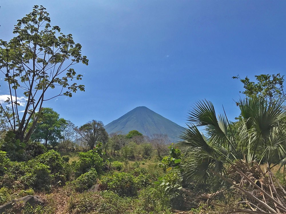 View ofConcepción volcano on ometepe, Nicaragua