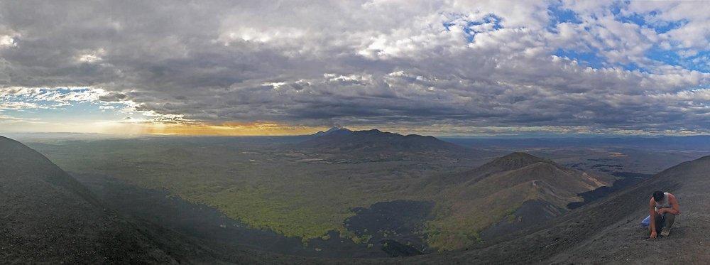 view from top of Cerro Negro volcano | Best Volcano Hikes in Nicaragua