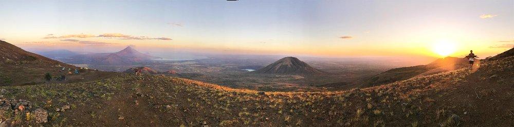 Full moon over night hike of El Hoyo volcano | Best Volcano Hikes in Nicaragua