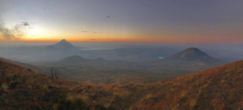 view from El Hoyo volcano, Nicaragua