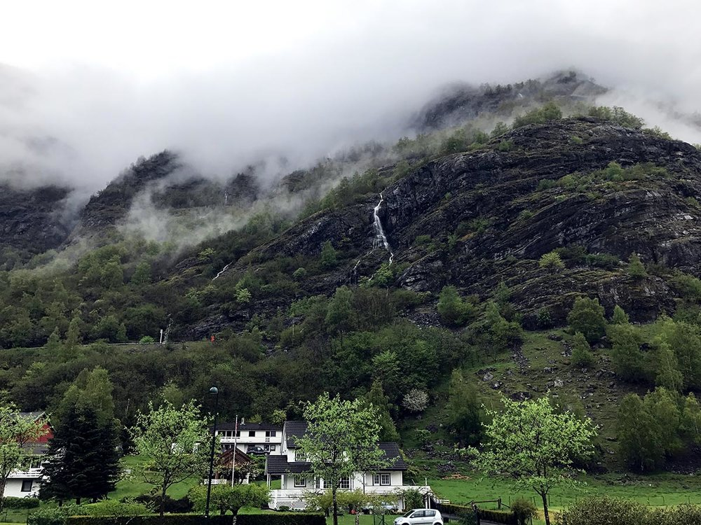 Views of Flåm from my Fjord Road Trip.