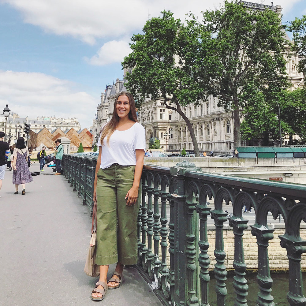 Sapphire & Elm Travel co-founder, stephanie, in paris in 2017