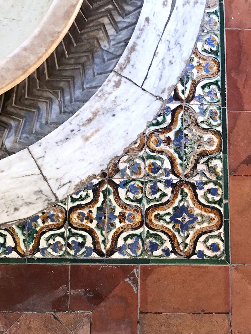 Hall of Justice tile at the Alcázar in Seville, Spain