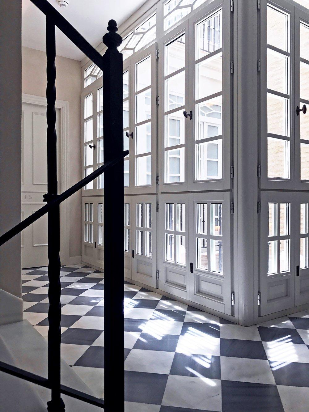 Corral del Rey hotel Seville Spain marble stairs.jpg