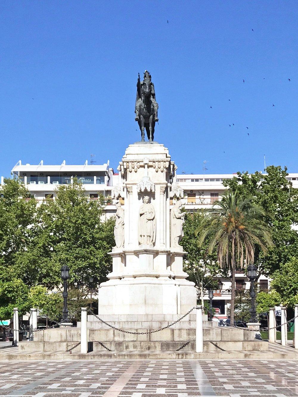 Seville Spain statue plaza.jpg