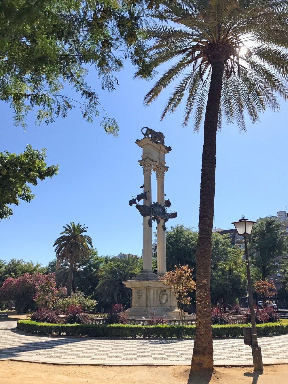 Seville Spain park statue.jpg