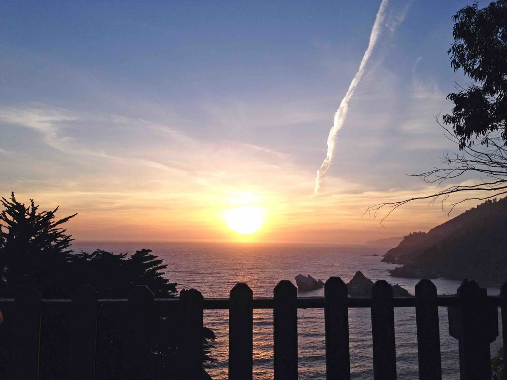 Big Sur Sunset at McWay Falls