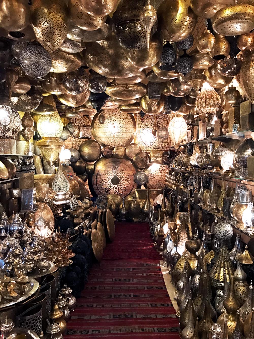 Moroccan lantern shop