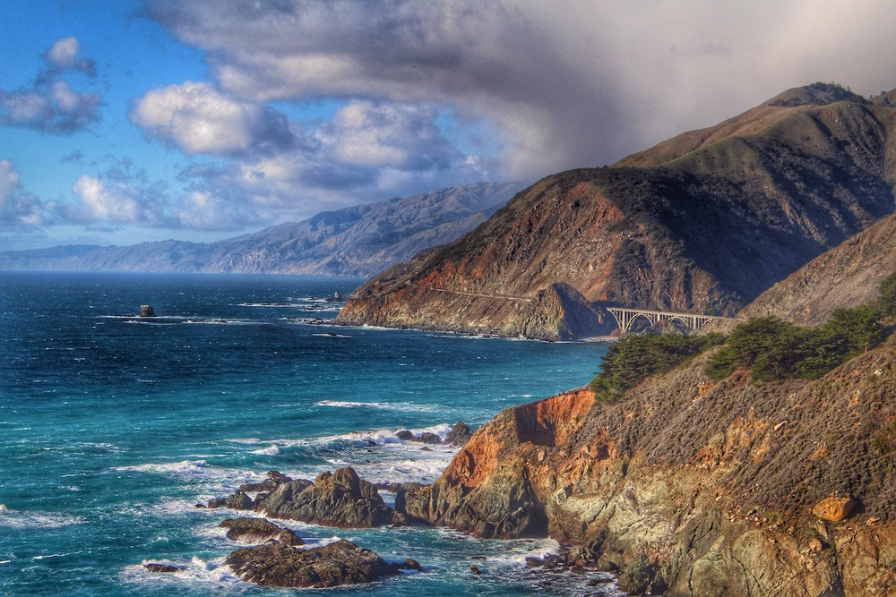 the coastline in Big Sur, California
