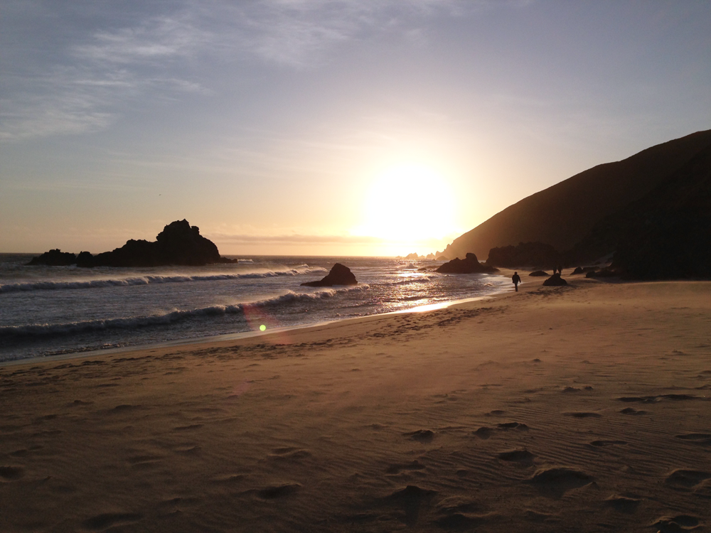 Pfeiffer Beach Big Sur sunset