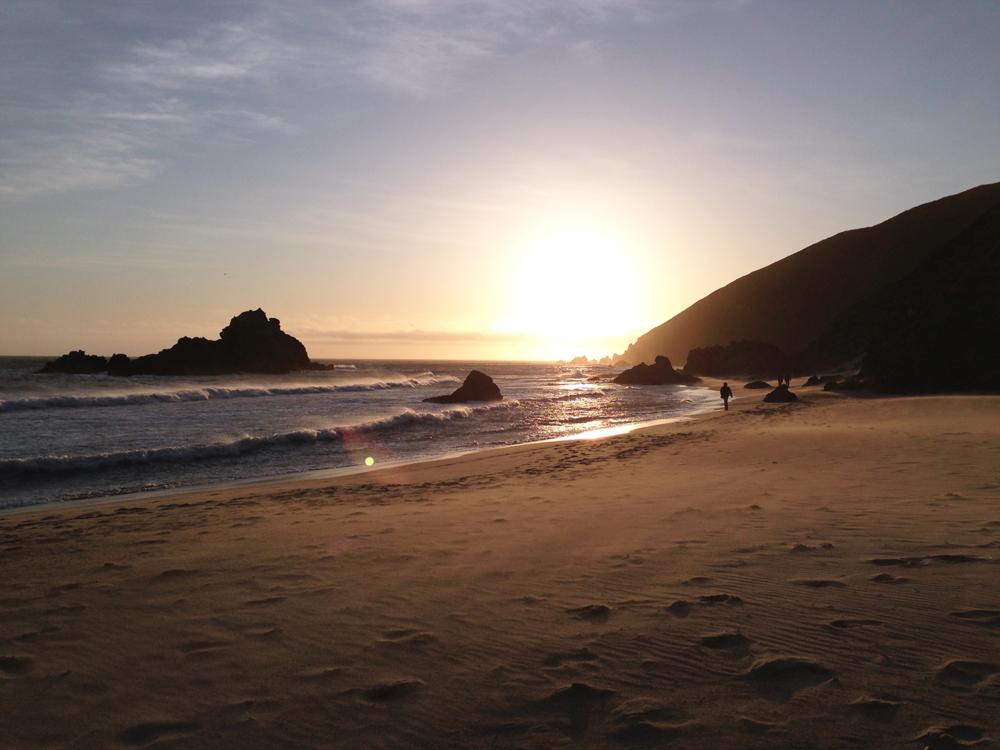 Pfeiffer Beach Big Sur sunset