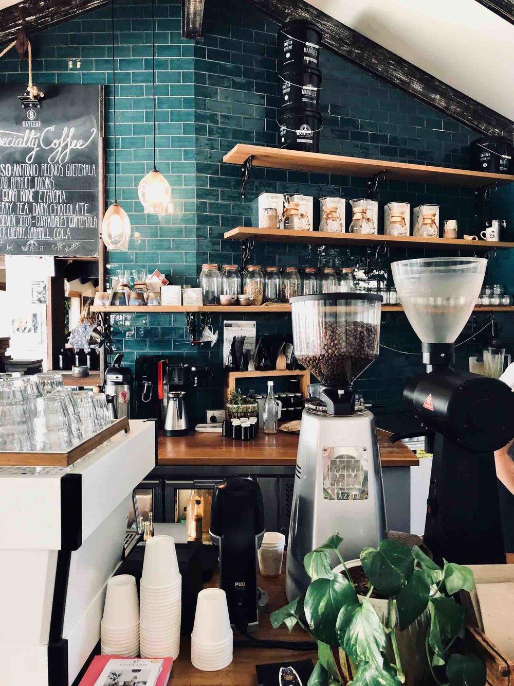 Coffee Bar| Bay Leaf Cafe Byron Bay