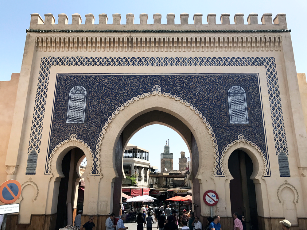 Fez Morocco blue gate | Photos of Morocco