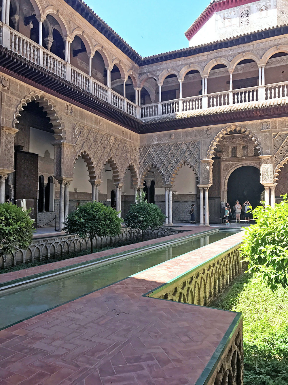 Courtyard of the Maidens| Alcázar, Seville,+Spain