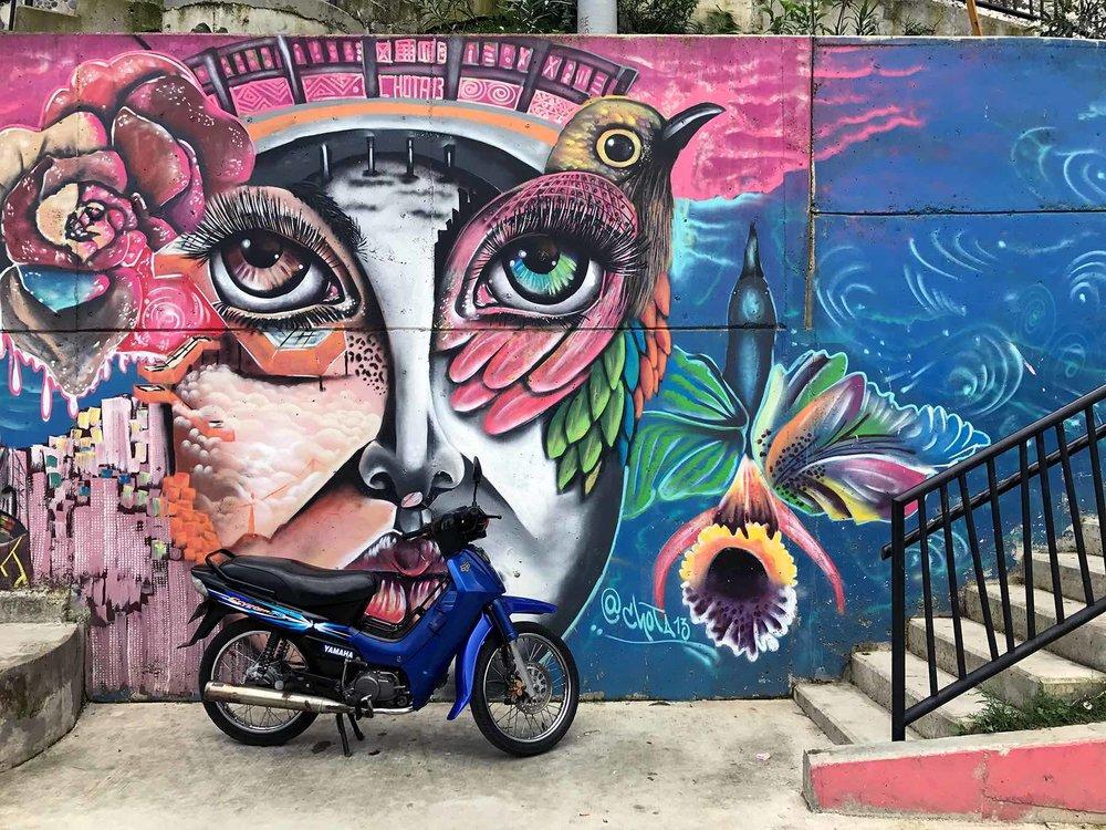 Medellin Colombia Comuna 13 street art