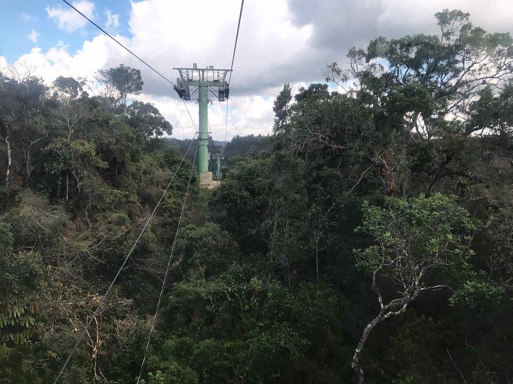 Medellin Colombia Metro Cable to Parque Arvi