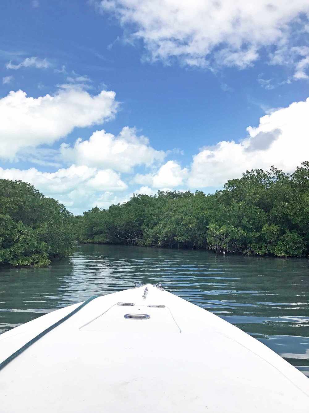 Ambergris Caye, Belize lagoon